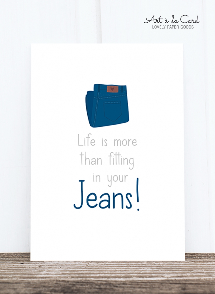 Bild 1 von Postkarte: Life is more than fitting in your jeans HF