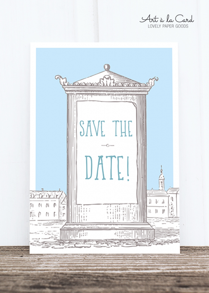 Bild 1 von Postkarte: Save the Date, HF
