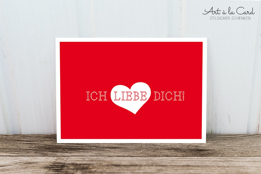 Postkarte Ich Liebe Dich Art à La Card Lovely Paper Products