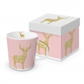 Trend Mug Gift Box: Hirsch, real gold