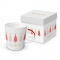 Trend Mug Gift Box: Tree Parade, real gold
