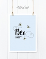 Kunstdruck: Bee happy
