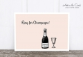 Postkarte: Ring for Champagne