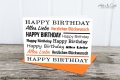 Klappkarte: Birthday - Typo orange